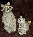 Quarry critters raccoons  figurine pair