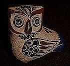 Vintage handmade owl figurine Netzi Mexico