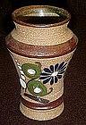 Souvenir  hand painted pottery vase, Mazatlan Mexico