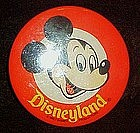 Mickey Mouse Disneyland pin back button