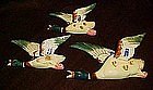 Vintage  flying ducks wall pocket,  set of 3