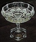 Tall crystal comport with frosted blackberry pattern