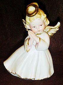 Lefton bisque angel figurine #1420