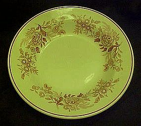 Walker Restaurant rimmed soup bowl, red flower transfer