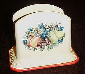 Sweet country Harvest napkin holder, Avon