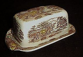 Nasco Mountain woodland covered butter dish
