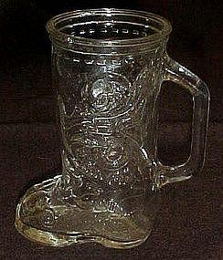 Glass boot  drinking mug