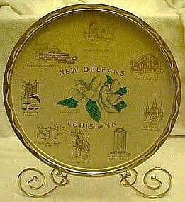 Metal state tray, Louisiana, old new stock