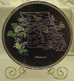 Metal souvenir state tray, Missouri, all nice