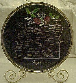 Metal state souvenir tray, Oregon, all nice