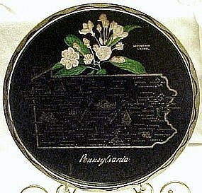 Metal souvenir ste tray, Pennsylvania, all nice