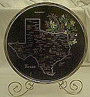 Metal souvenir state tray, Texas, all nice