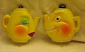 Anthropomorphic tea kettle, pot holder hangers