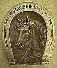 Vintage souvenir ashtray, horseshoe,horse, Italy