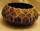 Large USA planter console bowl, drip glaze