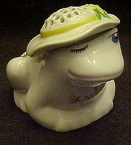 Avon lady  frog pompador, air freshner
