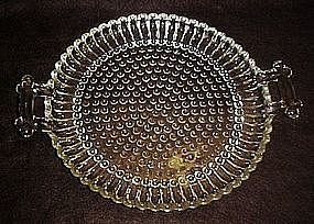 Jeanette, round glass tray, National pattern