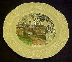 Historical Williamsburg Wren Building, collector plate
