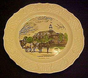 Historical Williamsburg Capitol Building,  plate