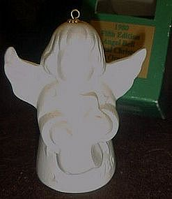 Goebel 1980 Angel with saxophone bell ornament, boxed