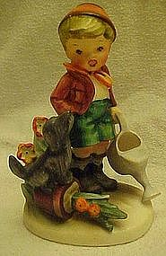 Arnart figurine, little gardner boy and puppy