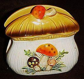 Sears Merry mushroom ceramic napkin holder