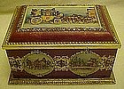 Decorative vintage candy or cookie tin / box