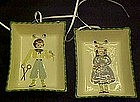 Pair of  Cleminson's  pottery wall plaque