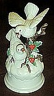 Musical  doves porcelain figurine, plays silent night