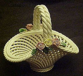 Capodomonte Italy  woven pottery basket