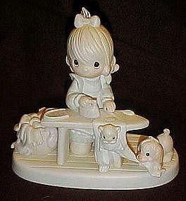"""Enesco Precious Moments figurine, """"Press On""""  E9265"""