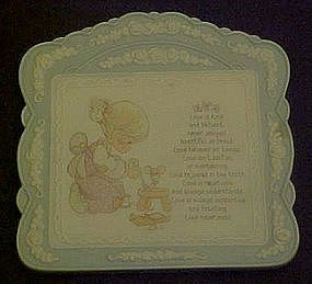 Precious Moments wall plaque, Love is .................
