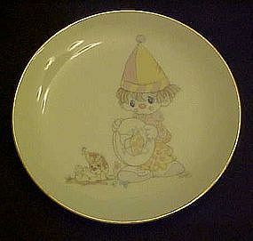 Enesco Precious Moments clown plate, look before you ..