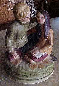 Musical figurine, Love means never having to say.......