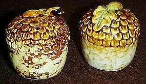 Fall harvest, stoneware acorn salt and pepper shakers