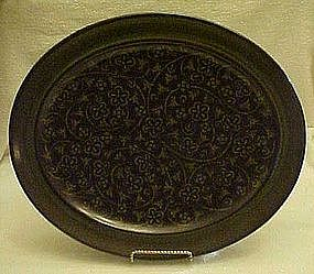 "Franciscan Madeira  13 1/2"" oval serving platter"