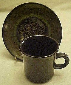 Franciscan Madeira cup and matching saucer set