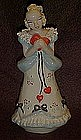 Vintage California pottery February lady, by Ynez