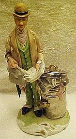 Welsh porcelain figurine, English hobo gentleman