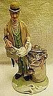 Welsh porcelain figurine, English hobo gentleman