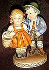 Hummel look boy and girl figurine, by Harvan  Japan