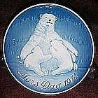 Royal Copenhagen, 1974 Mothers Day plate, Polar Bears
