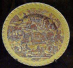 Vernon Kilns Arizona state souvenir plate