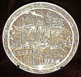 Vernon Kilns New Orleans souvenir plate, Haussman ,,,,,