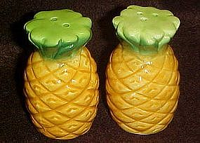 Pineapple figural salt and pepper shakers
