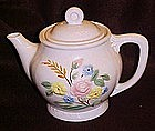 Large vintage porcelier teapot with flower bouquet