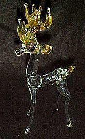 Hand blown glass reindeer /deer figurine