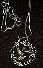 Sterling silver hummingbird necklace and chain