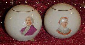 Martha and George Washington porcelain shakers