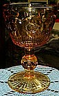 Amber  / gold Manhattan wine goblet